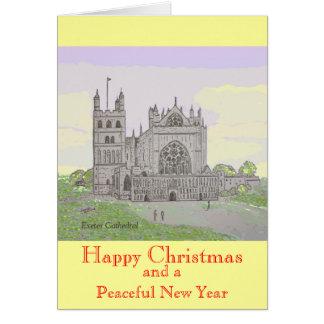 Cartão de Natal da catedral de Exeter