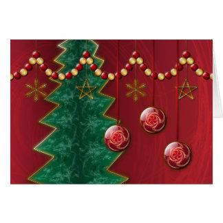 Cartão de Natal da celebração do Fractal