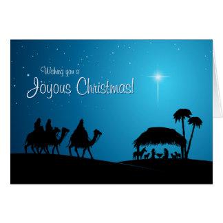 Cartão de Natal da cena da natividade