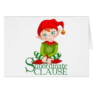 Cartão de Natal da cláusula subordinada (vazio