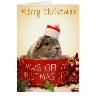 Cartão de Natal da cobaia