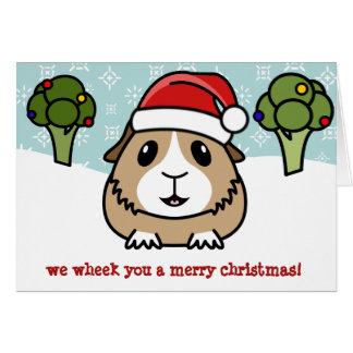 Cartão de Natal da cobaia dos desenhos animados