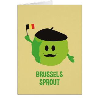 Cartão de Natal da couve de Bruxelas