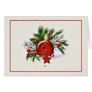 Cartão de Natal da empresa com Natal T