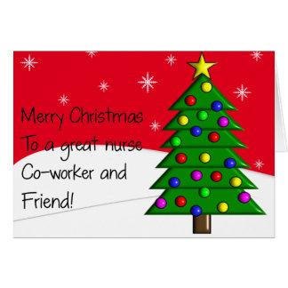 Cartão de Natal da enfermeira