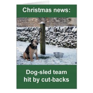 cartão de Natal da equipe do Cão-trenó