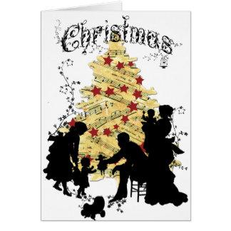 Cartão de Natal da família