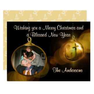 Cartão de Natal da família Convite 12.7 X 17.78cm