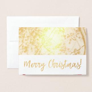 Cartão de Natal da folha das bagas do azevinho