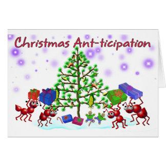 cartão de Natal da formiga