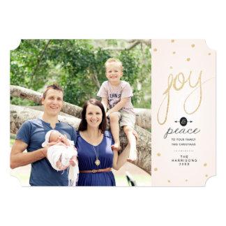 Cartão de Natal da foto da alegria do brilho do Convite 12.7 X 17.78cm