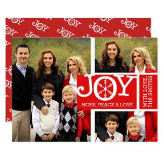 Cartão de Natal da foto da paz & do amor da