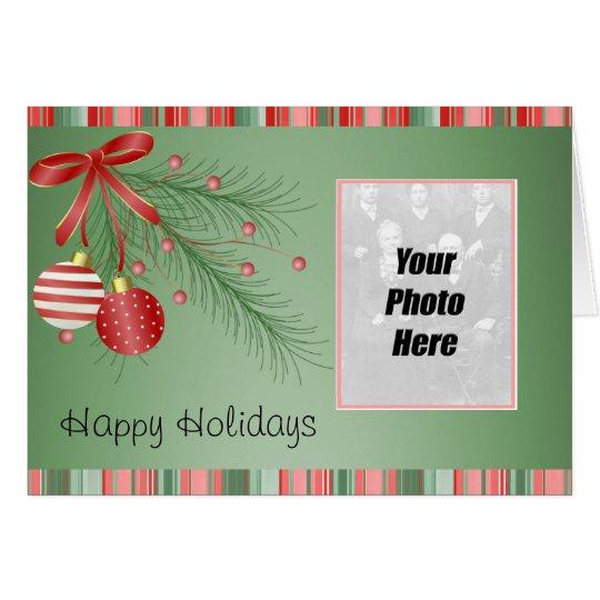 Cartão de Natal da foto de família