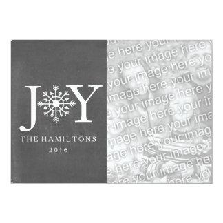 Cartão de Natal da foto do floco de neve da Convite 12.7 X 17.78cm