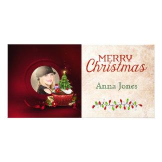 Cartão de Natal da foto do papai noel