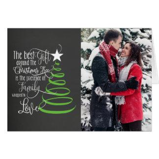 Cartão de Natal da foto do quadro