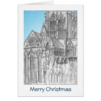 Cartão de Natal da igreja de York com CUMPRIMENTO