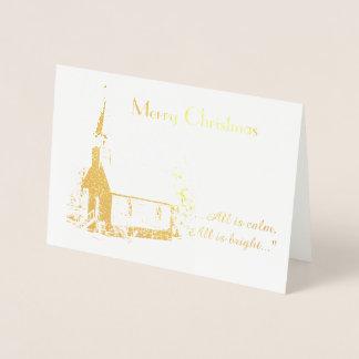 Cartão de Natal da igreja (folha)