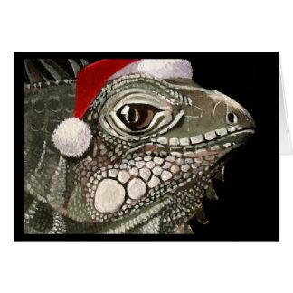Cartão de Natal da iguana