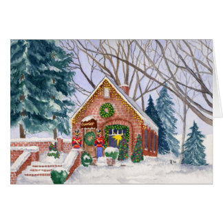 Cartão de Natal da loja do chocolate de Pierre