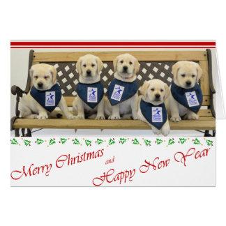 Cartão de Natal da maca do tempo