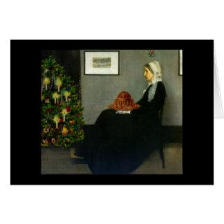 Cartão de Natal da mãe do assobiador