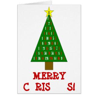 Cartão de Natal da matemática