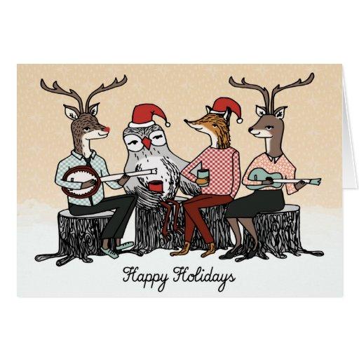 Cartão de Natal da música do feriado