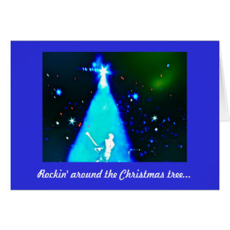 Cartão de Natal da música do rolo do n da rocha