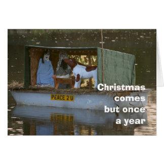 Cartão de Natal da natividade