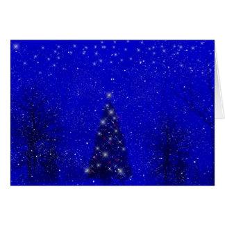 Cartão de Natal da noite do inverno