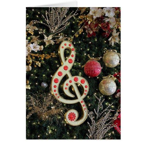 Cartão de Natal da nota da música
