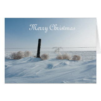 Cartão de Natal da paisagem do inverno