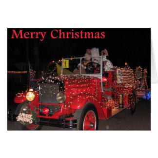 Cartão de Natal da parada da luz elétrica