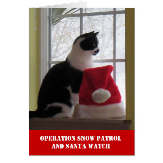 Cartão de Natal da patrulha da neve da operação