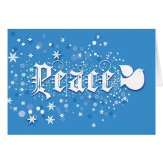 Cartão de Natal da paz