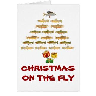 Cartão de Natal da pesca com mosca de Montana