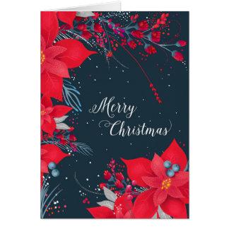 Cartão de Natal da poinsétia