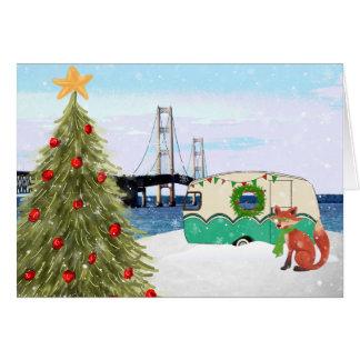 Cartão de Natal da ponte de Mackinac