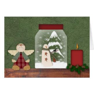 Cartão de Natal da prateleira do Natal