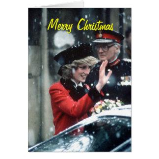 Cartão de Natal da princesa Diana