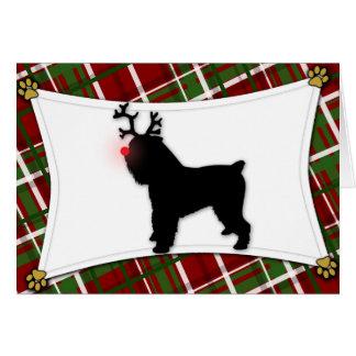 Cartão de Natal da rena de Bruxelas Griffon