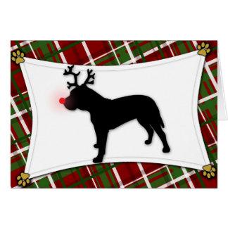 Cartão de Natal da rena de Presa Canario