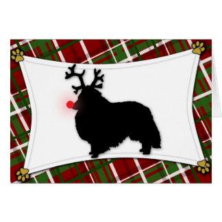 Cartão de Natal da rena de Sheltie