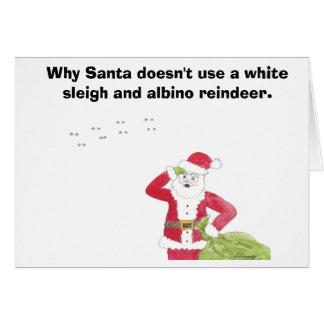 Cartão de Natal da rena do albino