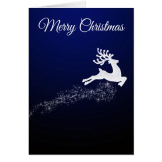Cartão de Natal da rena do brilho