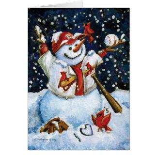 Cartão de Natal da série do basebol