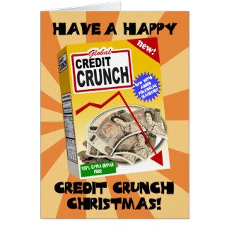 Cartão de Natal da supressão de créditos