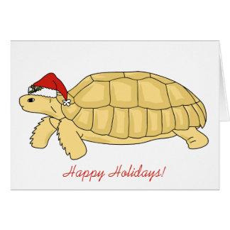 Cartão de Natal da tartaruga de Sulcata