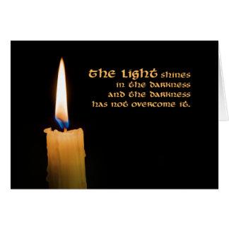 Cartão de Natal da vela (dê boas-vindas a todas as